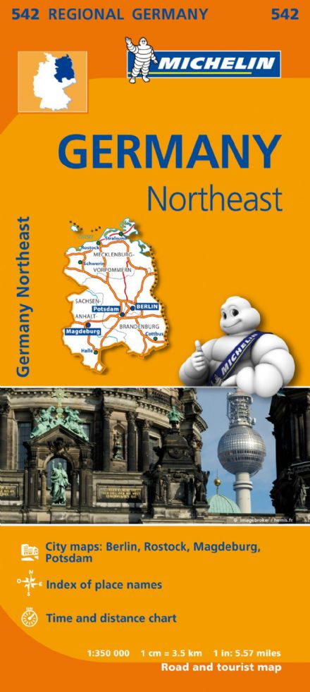 542 Germany North East - Michelin Regional Map